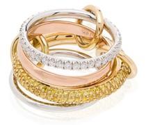 18kt 'Vega' Goldring mit Diamanten