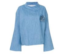 bell-shaped denim blouse