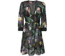 Florales Kleid mit semi-transparentem Design