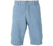 Jeans-Shorts mit Schlaufendetails