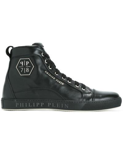 philipp plein herren 39 lost 39 high top sneakers reduziert. Black Bedroom Furniture Sets. Home Design Ideas