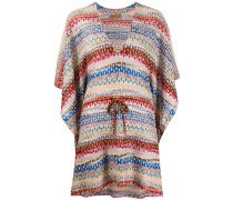 Kimono-Kleid mit Bindegürtel