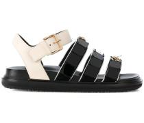 buckled jewel-embellished sandals