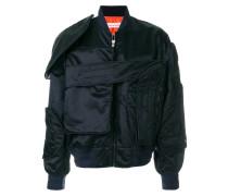 multi-pocket bomber jacket