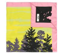 Seidenschal mit 'Wald'-Print