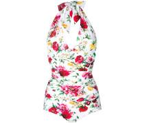 floral print halterneck swimsuit
