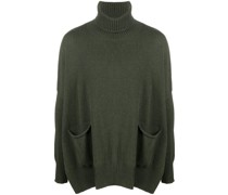 oversized roll-neck jumper