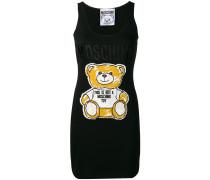 Trägerkleid mit Teddy-Print