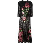 Kleid mit Rosenstickereien
