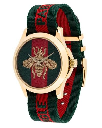 bumblebee fabric strap watch