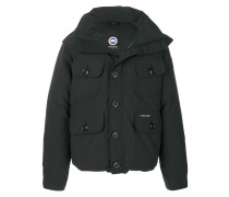hooded buttoned coat - Unavailable