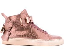 Metallische High-Top-Sneakers in