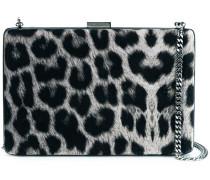 leopard pattern box clutch
