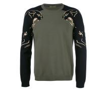 Intarsien-Pullover mit Panthermotiv - men