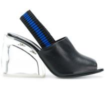 Plexi Heel Slingback sandals