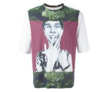 T-Shirt mit Gesichts-Print - men - Baumwolle - M