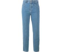 Jeans mit Wellensaum