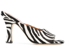 Mules mit Zebra-Muster