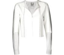 cropped studded jacket