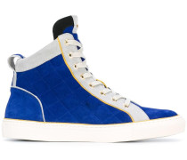 quilted hi-top sneakers