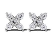 14kt 'Ava Bea' Weißgoldohrstecker mit Diamanten