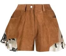 Shorts mit Spitzenbesatz