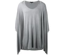 Drapiertes T-Shirt - men - Viskose - S
