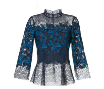Mosaic lace blouse