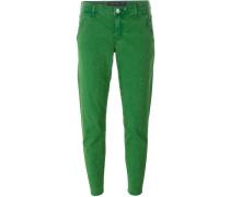 Gepunktete Cropped-Jeans