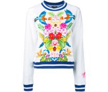 Sweatshirt mit tropischem Print