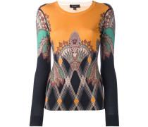 gothic print fine knit jumper