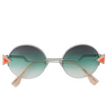 Runde Sonnenbrille mit dreieckigen Aplikationen