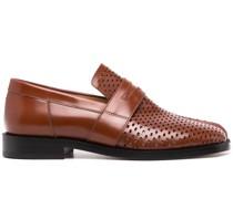 Perforierte Tabi-Loafer