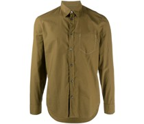 stitch-effect chest pocket shirt