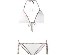 Bikini mit Vintage-Check