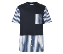 striped details T-shirt