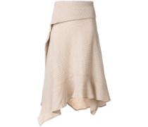 asymmetric knitted skirt