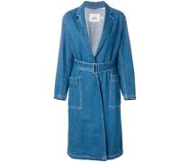 Knielanger Jeans-Trenchcoat