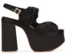 Sandalen mit Plateausohle - women - Leder/Satin