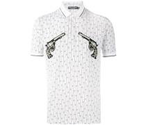 Poloshirt mit Revolver-Print