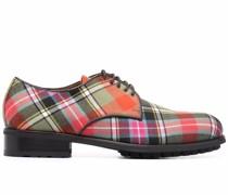 Derby-Schuhe mit Schottenkaro