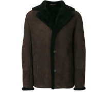 buttoned shearling jacket