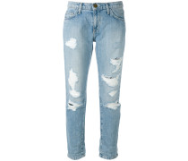 cropped distressed jeans - women - Baumwolle