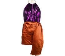 Zweifarbiges Minikleid
