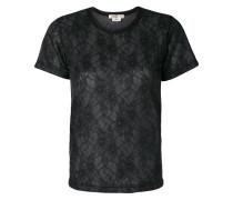 T-Shirt mit Spitzenbesatz