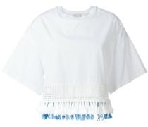 - Cropped-Bluse mit Fransen - women