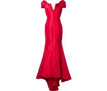 Abendkleid mit kurzen Ärmeln - women - Seide - 8
