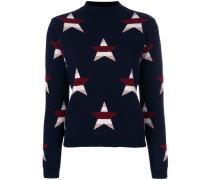 Intarsien-Pullover mit Sternen