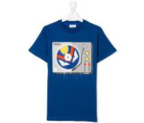 T-Shirt mit DJ-Set-Print