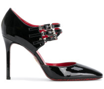 triple buckle mary jane shoes